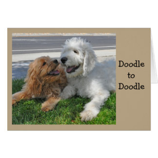 Goldendoodle friends card