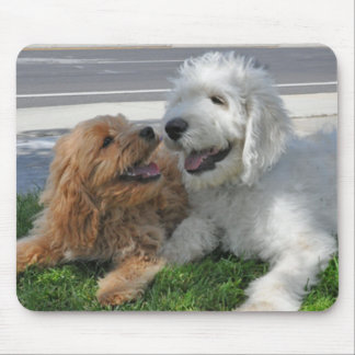 Goldendoodle friends mouse pad