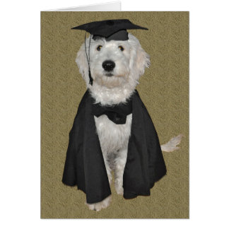 Goldendoodle Graduation Card