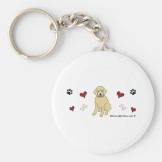 Goldendoodle Keychain