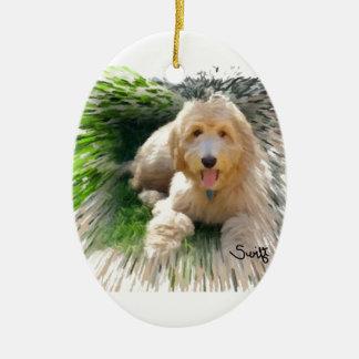 Goldendoodle Labradoodle Ceramic Ornament