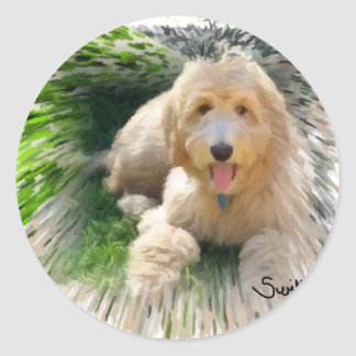 Goldendoodle Labradoodle Classic Round Sticker