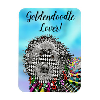 """Goldendoodle Magnet 3""""x4"""""""