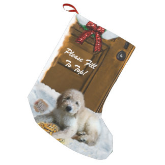 Goldendoodle Merry Christmas Small Christmas Stocking