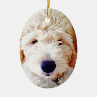 Goldendoodle Puppy Ceramic Ornament