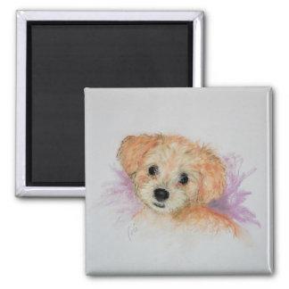 Goldendoodle Puppy Dog Art Magnet