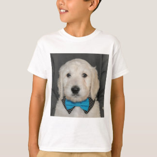 Goldendoodle puppy wearing a bowtie T-Shirt