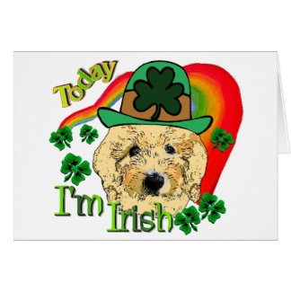 Goldendoodle St Patricks Day Card