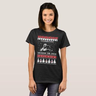 Goldendoodle Through The Snow T-shirt