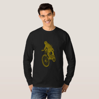 Goldener Biker T-Shirt