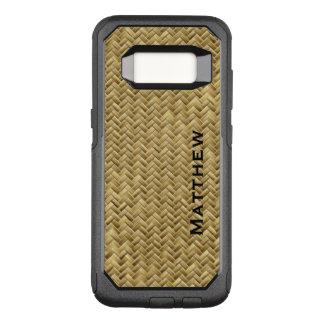 : GoldenFaux Basket Weave Pattern OtterBox Commuter Samsung Galaxy S8 Case
