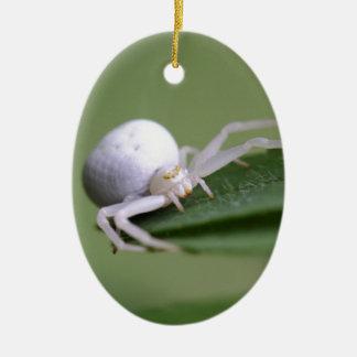 Goldenrod crab spider or flower crab spider ceramic oval ornament