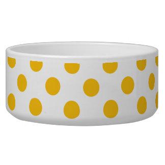 Goldenrod Polka Dots on White
