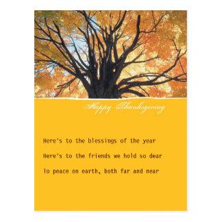 Goldenrod Thanksgiving Invitation Postcard