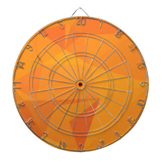 Goldenrod Yellow Abstract Low Polygon Background Dartboard With Darts