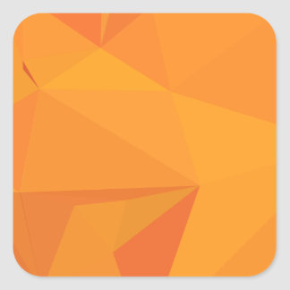 Goldenrod Yellow Abstract Low Polygon Background Square Sticker
