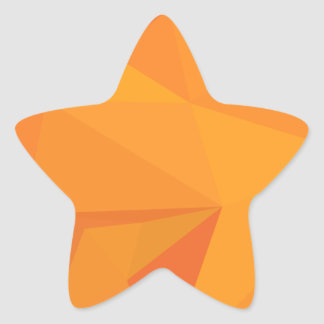 Goldenrod Yellow Abstract Low Polygon Background Star Sticker
