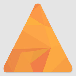Goldenrod Yellow Abstract Low Polygon Background Triangle Sticker