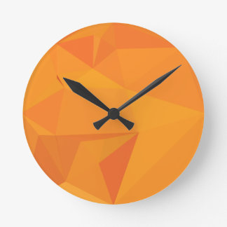 Goldenrod Yellow Abstract Low Polygon Background Wall Clocks