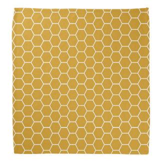 Goldenrod Yellow Geometric Honeycomb Hexagon Patte Bandana