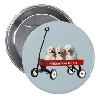 Goldens In Wagon Button