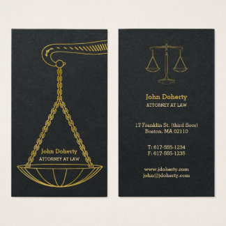 GoldenScales Of Justice | Professional Lawyer Business Card
