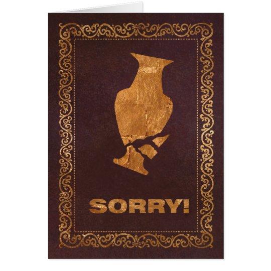 GoldenVase Sorry! Card
