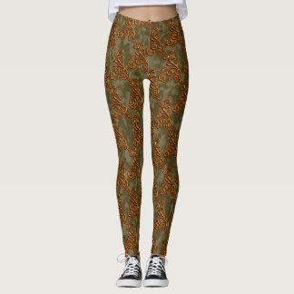 Goldern green elegant classy Leggings