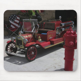 Goldfield bitty fire truck mouse pad