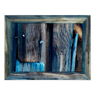 Goldfield Old West Town - Old Wood with Blue Nails Poster
