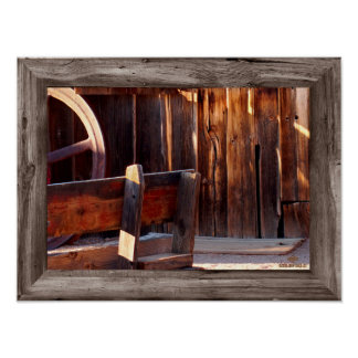Goldfield Old West Town - The Bench Poster