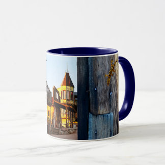 Goldfield Old West Wood Grain mug - blue