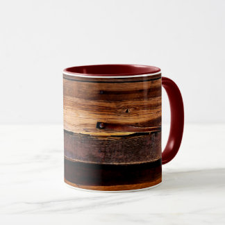 Goldfield Old West Wood Grain mug - maroon