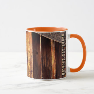 Goldfield Old West Wood Grain mug - orange