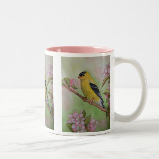 Goldfinch Among the Apple Blossoms COFFEE MUG