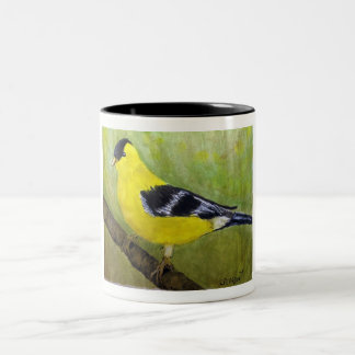 Goldfinch Birdwatchers Two-Tone Coffee Mug