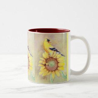 GOLDFINCH by SHARON SHARPE Two-Tone Coffee Mug