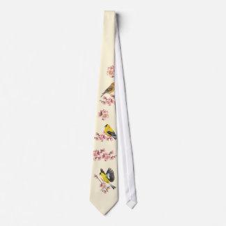 Goldfinch Cherry Blossom Tie