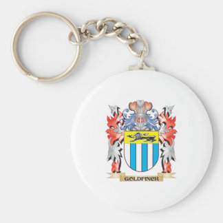 Goldfinch Coat of Arms - Family Crest Keychain
