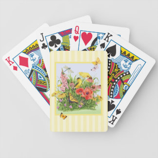 Goldfinch Garden Bicycle Playing Cards