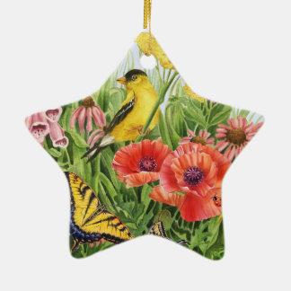 Goldfinch Garden Ceramic Ornament
