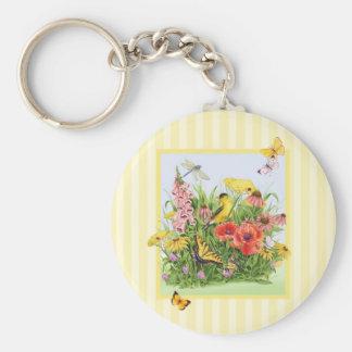 Goldfinch Garden Keychain