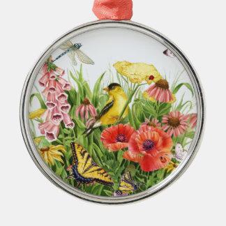 Goldfinch Garden Metal Ornament
