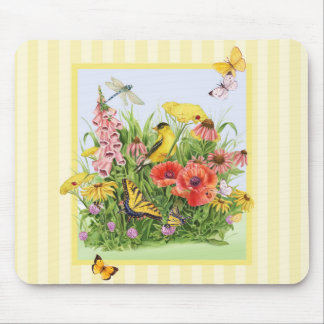 Goldfinch Garden Mouse Pad