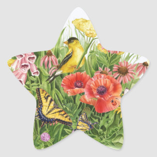 Goldfinch Garden Star Sticker