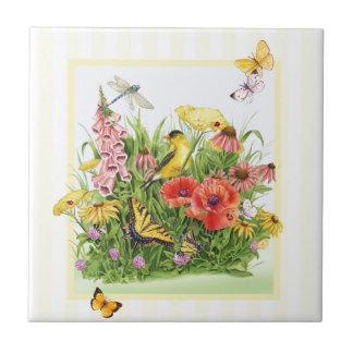 Goldfinch Garden Tile