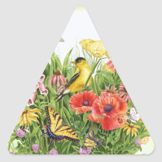 Goldfinch Garden Triangle Sticker