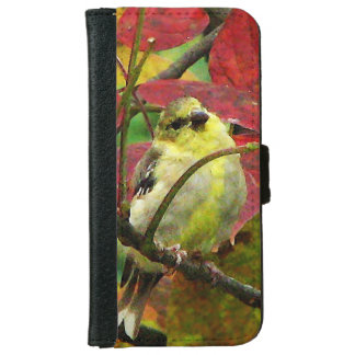 Goldfinch in Autumn iPhone 6 Wallet Case