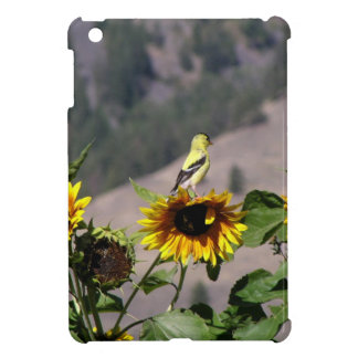 Goldfinch in the Sunflower patch Case For The iPad Mini