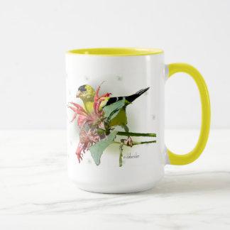 Goldfinch Large Coffee Mug